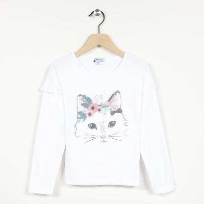 T-shirt manches longues imprimé chaton