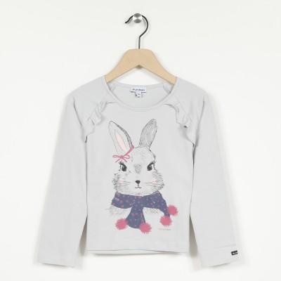 T-shirt manches longues avec motif lapin