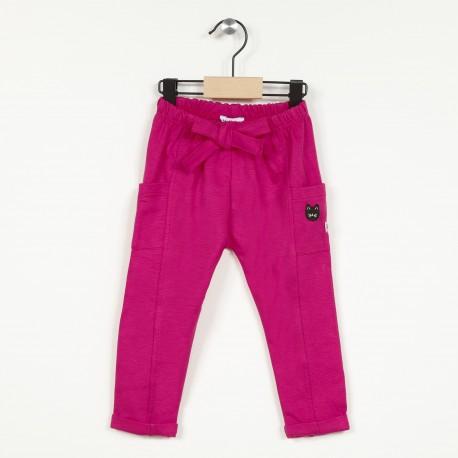 Pantalon maille avec taille élastiquée