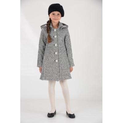 Manteau bouclette  à capuche amovible