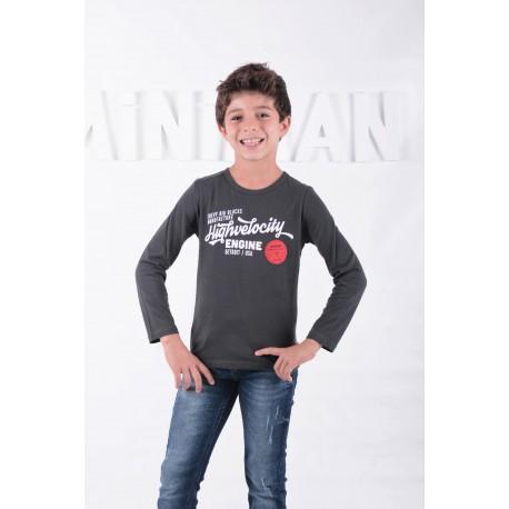 T-shirt manches longues motif imprimé