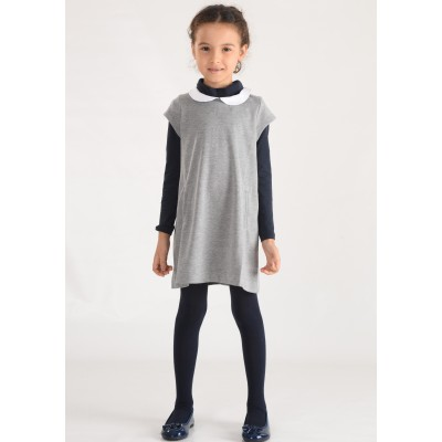 Robe maille col claudine