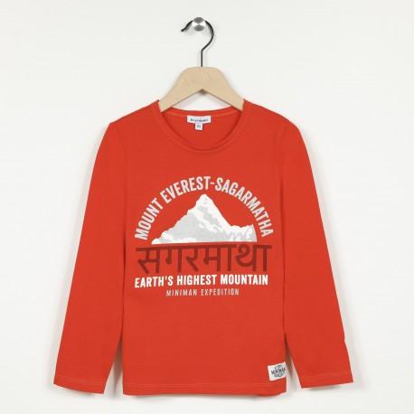 T-shirt manches longues avec motif