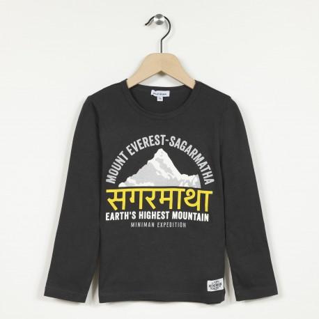 T-shirt manches longues imprimé devant