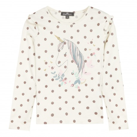 T-shirt motif imprimé licorne