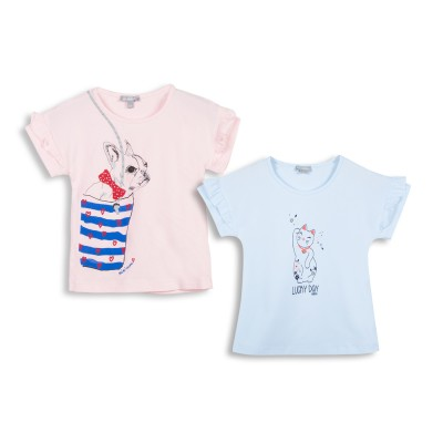 Lot de 2 t-shirts col rond