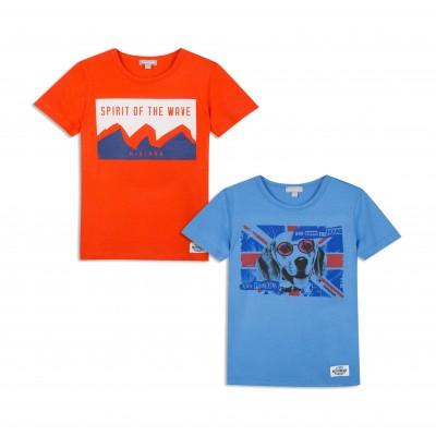 Lot de 2 t-shirts col rond imprimés