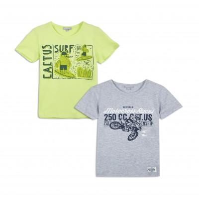 Lot de 2 t-shirts manches courtes