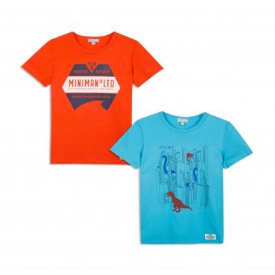 Lot de 2 t-shirts imprimés