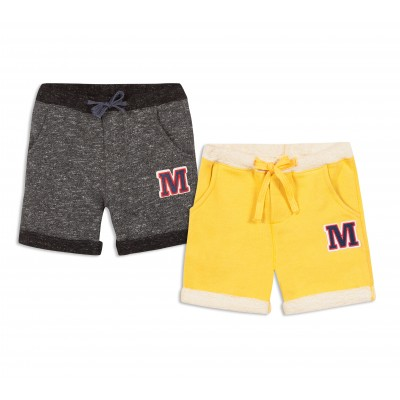 Lot de 2 bermudas en molleton