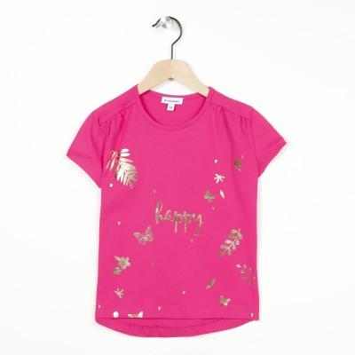 T-shirt col rond motif imprimé