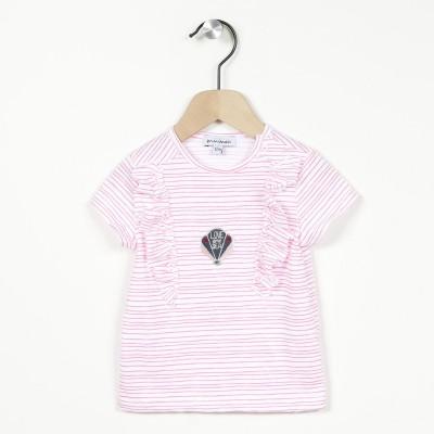 T-shirt manches courtes rayé
