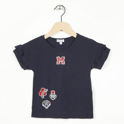 T-shirt à manches courtes volantées