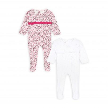 Lot de 2 pyjamas en coton biologique