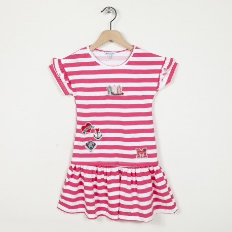 Robe patineuse manches courtes