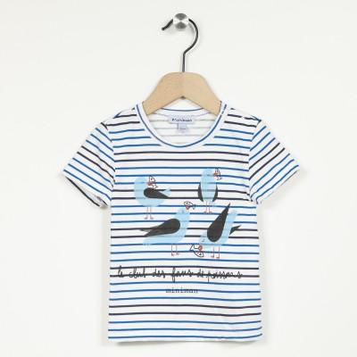 T-shirt rayé manches courtes