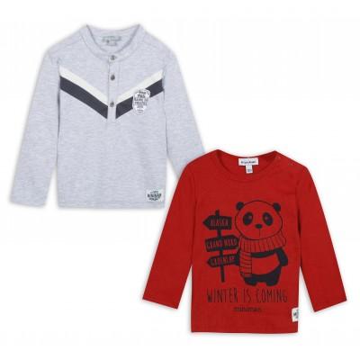Lot 1 polo et 1 t-shirt manches longues