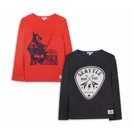 Lot de 2 t-shirts motifs imprimés