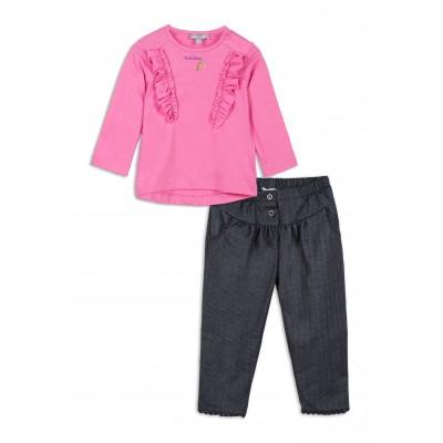 Ensemble t-shirt manches longues et pantalon