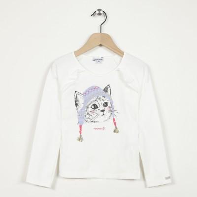 T-shirt manches longues avec motif imprimé