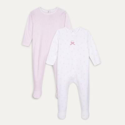 Lot de 2 pyjamas à pieds