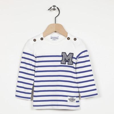T-shirt manches longues marinière
