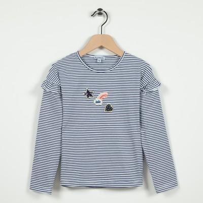 T-shirt manches longues à volants