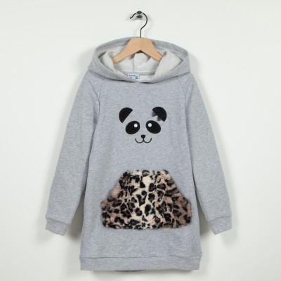 Robe sweat-shirt à capuche en molleton