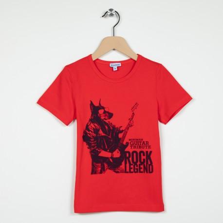 T-shirt col rond imprimé devant