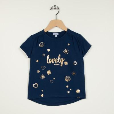 T-shirt manches courtes motif millard devant