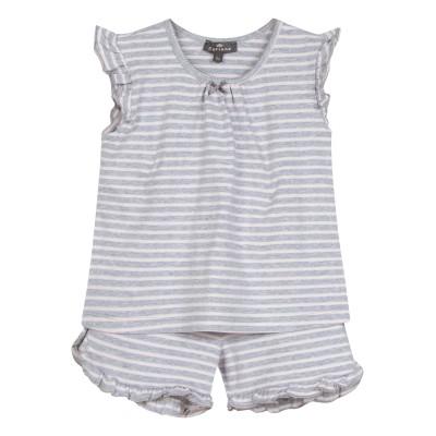 Pyjama rayé sans manche et short