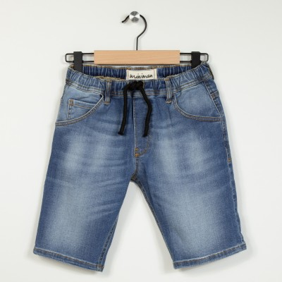 Bermuda en jean taille élastique
